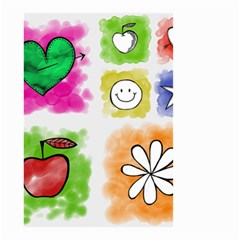A Set Of Watercolour Icons Small Garden Flag (two Sides)