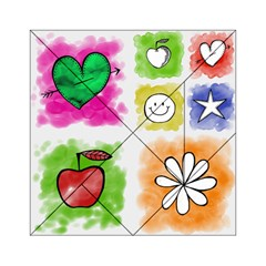 A Set Of Watercolour Icons Acrylic Tangram Puzzle (6  X 6 )