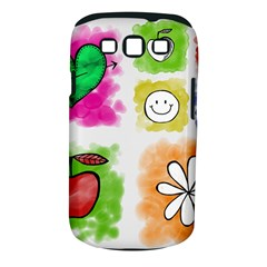 A Set Of Watercolour Icons Samsung Galaxy S Iii Classic Hardshell Case (pc+silicone)