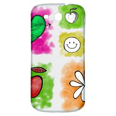 A Set Of Watercolour Icons Samsung Galaxy S3 S Iii Classic Hardshell Back Case