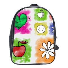 A Set Of Watercolour Icons School Bags (xl)