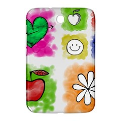 A Set Of Watercolour Icons Samsung Galaxy Note 8 0 N5100 Hardshell Case