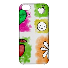 A Set Of Watercolour Icons Apple Iphone 5c Hardshell Case