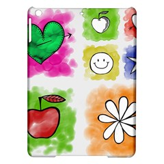 A Set Of Watercolour Icons Ipad Air Hardshell Cases