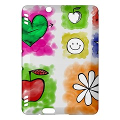 A Set Of Watercolour Icons Kindle Fire Hdx Hardshell Case