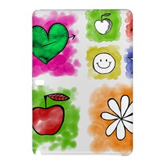 A Set Of Watercolour Icons Samsung Galaxy Tab Pro 12 2 Hardshell Case