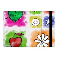 A Set Of Watercolour Icons Samsung Galaxy Tab Pro 10 1  Flip Case