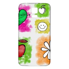 A Set Of Watercolour Icons Samsung Galaxy S5 Back Case (white)