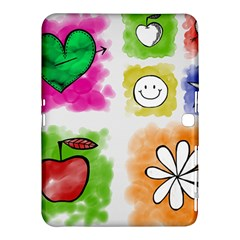 A Set Of Watercolour Icons Samsung Galaxy Tab 4 (10 1 ) Hardshell Case