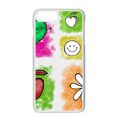 A Set Of Watercolour Icons Apple Iphone 7 Plus White Seamless Case