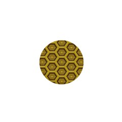 Golden 3d Hexagon Background 1  Mini Buttons