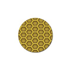 Golden 3d Hexagon Background Golf Ball Marker (10 pack)