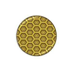 Golden 3d Hexagon Background Hat Clip Ball Marker (10 Pack)