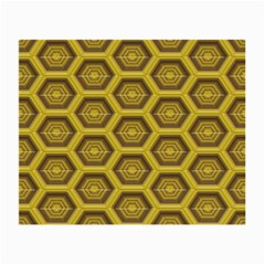 Golden 3d Hexagon Background Small Glasses Cloth