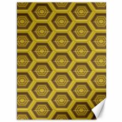 Golden 3d Hexagon Background Canvas 36  X 48