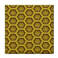 Golden 3d Hexagon Background Face Towel