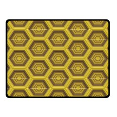 Golden 3d Hexagon Background Fleece Blanket (small)