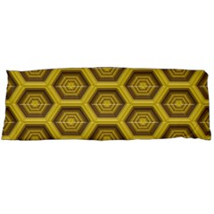 Golden 3d Hexagon Background Body Pillow Case Dakimakura (two Sides)