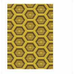 Golden 3d Hexagon Background Large Garden Flag (two Sides)
