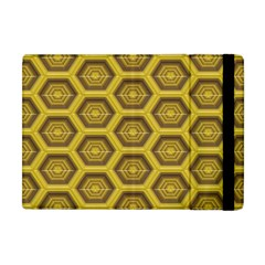 Golden 3d Hexagon Background Apple Ipad Mini Flip Case
