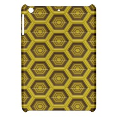 Golden 3d Hexagon Background Apple Ipad Mini Hardshell Case