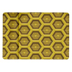 Golden 3d Hexagon Background Samsung Galaxy Tab 10.1  P7500 Flip Case