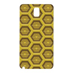 Golden 3d Hexagon Background Samsung Galaxy Note 3 N9005 Hardshell Back Case