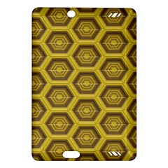 Golden 3d Hexagon Background Amazon Kindle Fire Hd (2013) Hardshell Case