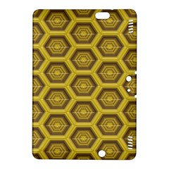 Golden 3d Hexagon Background Kindle Fire Hdx 8 9  Hardshell Case