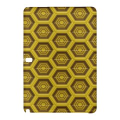 Golden 3d Hexagon Background Samsung Galaxy Tab Pro 12.2 Hardshell Case