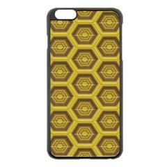 Golden 3d Hexagon Background Apple Iphone 6 Plus/6s Plus Black Enamel Case