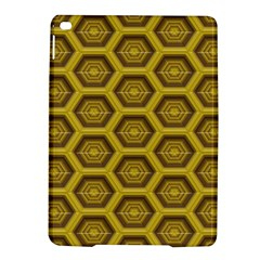 Golden 3d Hexagon Background Ipad Air 2 Hardshell Cases