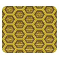 Golden 3d Hexagon Background Double Sided Flano Blanket (small)