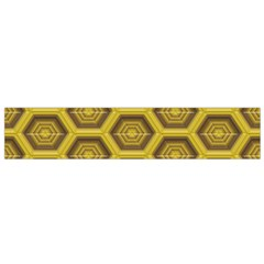 Golden 3d Hexagon Background Flano Scarf (Small)