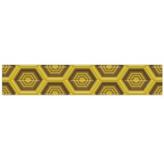 Golden 3d Hexagon Background Flano Scarf (Large)