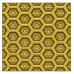 Golden 3d Hexagon Background Large Satin Scarf (square)