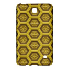 Golden 3d Hexagon Background Samsung Galaxy Tab 4 (8 ) Hardshell Case