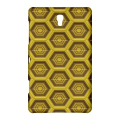 Golden 3d Hexagon Background Samsung Galaxy Tab S (8.4 ) Hardshell Case