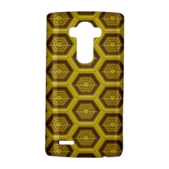 Golden 3d Hexagon Background Lg G4 Hardshell Case