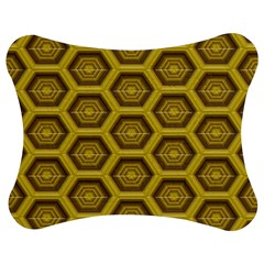 Golden 3d Hexagon Background Jigsaw Puzzle Photo Stand (bow)