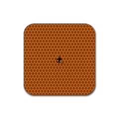 The Lonely Bee Rubber Coaster (Square)