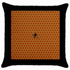 The Lonely Bee Throw Pillow Case (black)