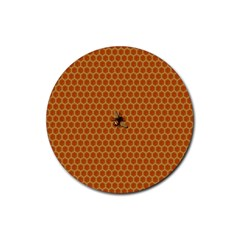 The Lonely Bee Rubber Coaster (round)