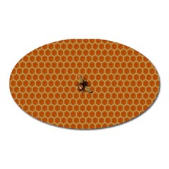 The Lonely Bee Oval Magnet
