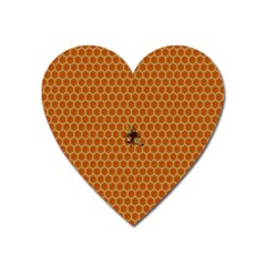 The Lonely Bee Heart Magnet