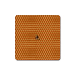 The Lonely Bee Square Magnet