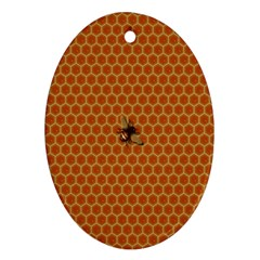 The Lonely Bee Oval Ornament (two Sides)