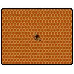 The Lonely Bee Double Sided Fleece Blanket (medium)