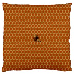 The Lonely Bee Large Flano Cushion Case (one Side)
