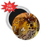 Symbols On Gradient Background Embossed 2.25  Magnets (100 pack)  Front